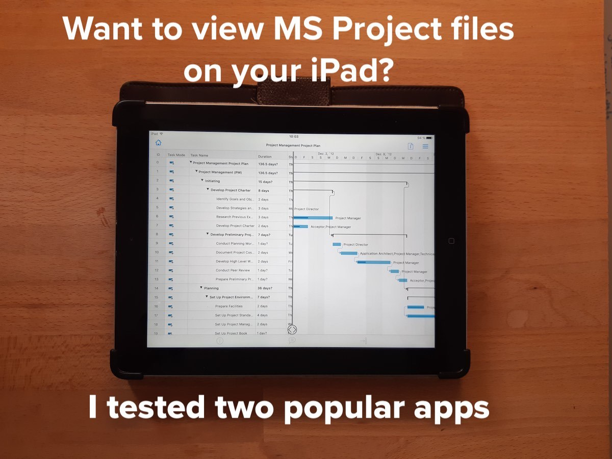 App for viewing MS Project files on iPad